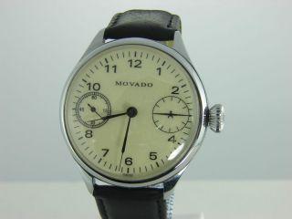 Movado Vintage 1930 Heeren Armbanduhr 46 Mm Bild