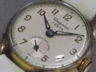 Dugena Festa Damen - Armbanduhr Mech.  17 R.  Vergoldet Fuchsöhrchen Swiss Made Schön Bild