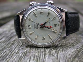 Rare Vintage Alarm Fortis Manager Wristalarm Armbandwecker Hau Herrenuhr Bild