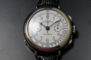 Eberhard & Co.  925 Sterling Silber Chronograph Herrenuhr Ref 31008 Cal.  310 - 82 Bild