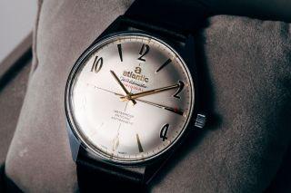Atlantic Worldmaster Herrenuhr Edelstahl Ref.  61660,  Eta 6300 N,  Handaufzug,  Nos Bild