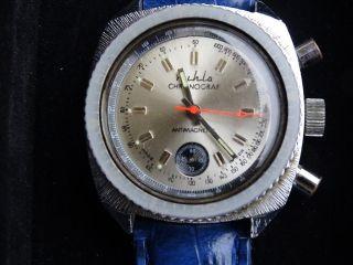 Ruhla Chronograf Chronograph Handaufzug Motorrad Bild