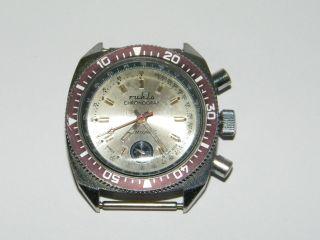 Ruhla Taucher Chronograph Vintage Handaufzug,  Wrist Watch,  Repair,  Läuft Bild