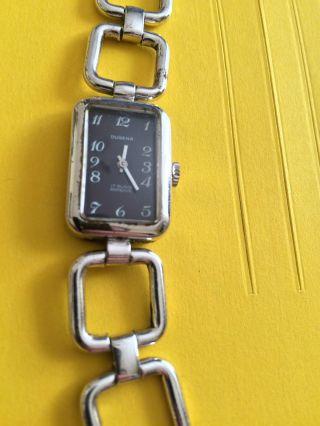 Elegante Dugena Damenarmbanduhr In Markantem Design,  Handaufzug,  17 Rubis Bild
