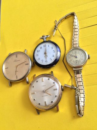 Vintage Armbanduhren & Taschenuhr 0,  800er Silber,  Handaufzug - Timex,  Lucerne, . Bild