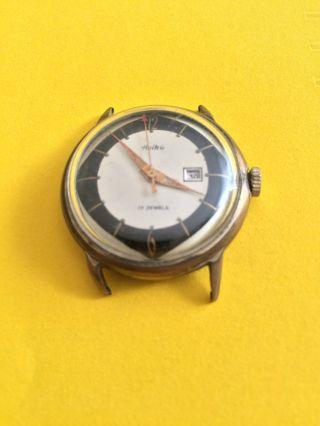 Vintage Klassische Heika Herrenarmbanduhr,  Handaufzug,  17 Jewels,  Wasserdicht Bild