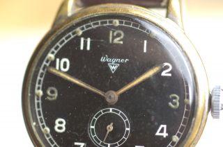 Wagner Dienst - Armbanduhr Der Luftwaffe Ww Ii Kaliber Urofa 58 Rare Sammleruhr Bild