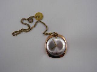 Glashütte Taschenuhr - Handaufzug Uhr - 20 Mikronen Goldplaqe - Bild