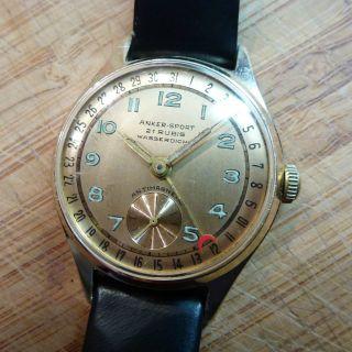 Anker Sport Mechanisch Handaufzug Armbanduhr Uhr Sammler 21 Jewels Mit Datum Bild