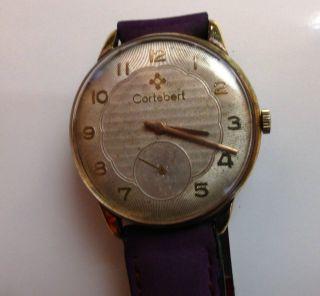 Hau Cortebert,  Vintage Herren Armbanduhr Cortebert Türkische Eisenbahner Uhr Bild