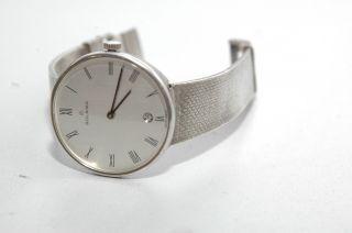 Herren Armbanduhr Golana Gehäuse Und Armband Massiv 925 Silber 65g Bild