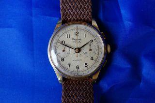 Dugena Festa 17 Rubis Chronograph 585 Oder 750 Gold Landeron 54 Bild