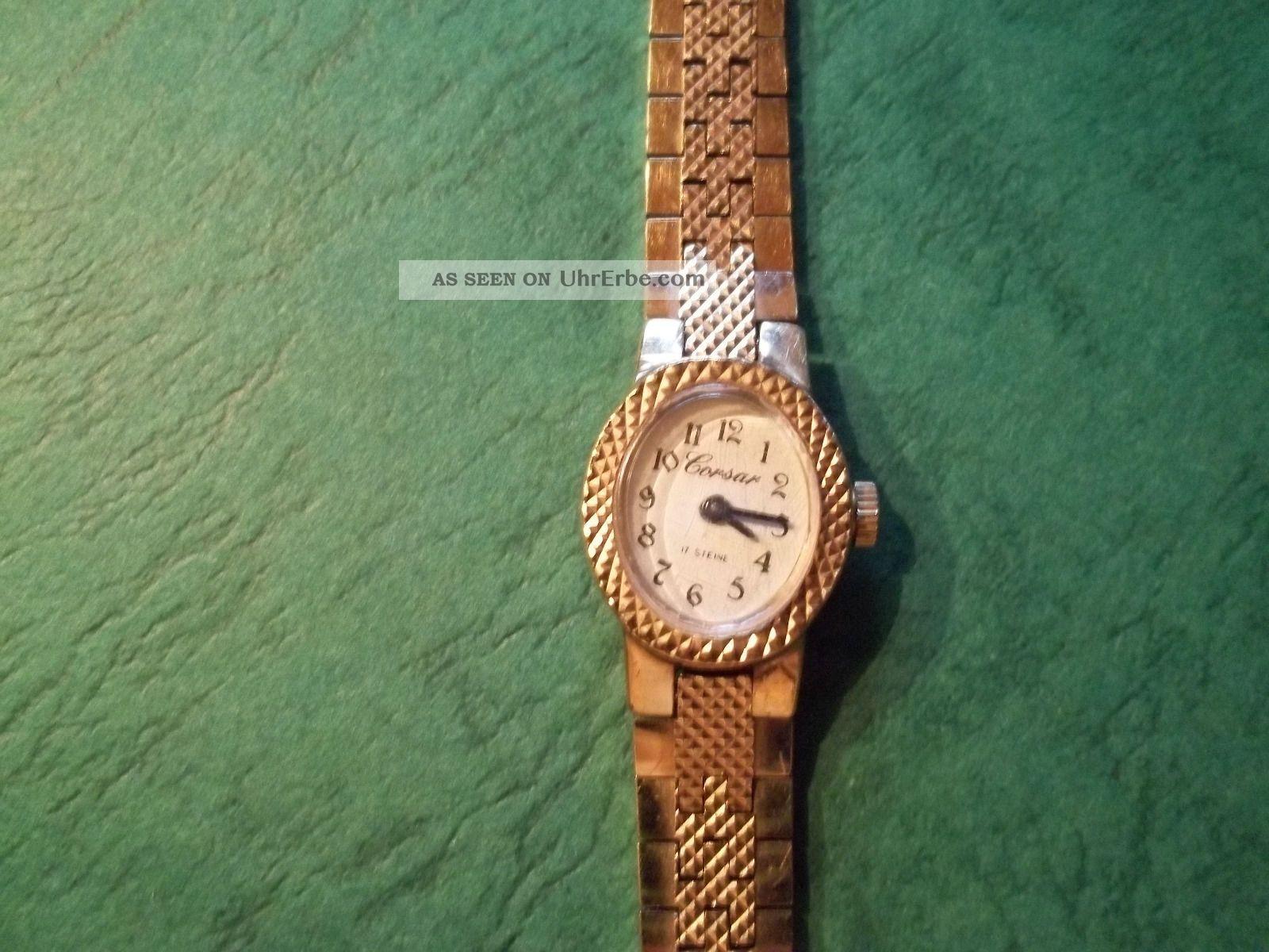 Alte Damenuhr Armbanduhr,  Von Corsar 17 Steine,  Läuft Armbanduhren Bild