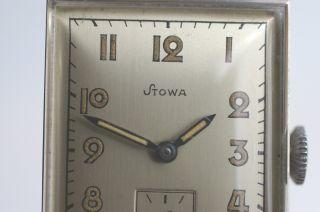 Stowa Armbanduhr Ungetragene Rare Sammleruhr 1940er Jahre Formwerkkaliber Nos Bild