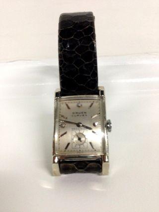 Weissgold - Uhr Klassisch Elegant Von Gruen - Vintage 1930 - 1940 Schweizer Qualität Bild