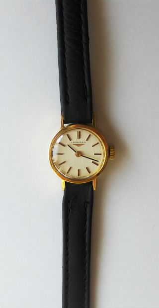 18k Solid Gold Longines Ladies Wristwatch Bild