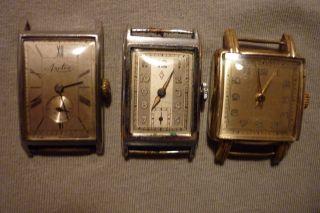 Konvolut Von Uhren 3 Stück Teildefekt Arctos,  Zentra Nr.  3ohnen Markenname Handauf Bild