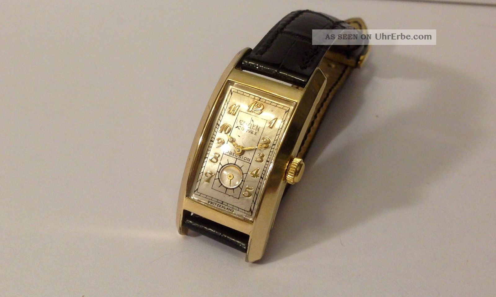 Gruen Sammlerstück Curvex Precision Handaufzug 1930er Jahre Armbanduhren Bild