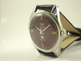 Hmt Javan Armbanduhr Handaufzug Mechanisch Vintage Sammleruhr 137 Bild