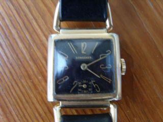 Defekte Alte Art Deco Longines Herren Armbanduhr - Handaufzug Bild
