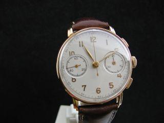 40er Jahre Angelus Schaltradchronograph - 18 Karat Gold Bild