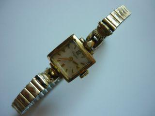 Dugena Damen Armbanduhr Gold Uhr Vergoldet Antik Vintage Handaufzug Bild