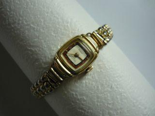 Preziosa Damen Armbanduhr Gold Uhr Vergoldet Antik Vintage Handaufzug Stoßgesich Bild