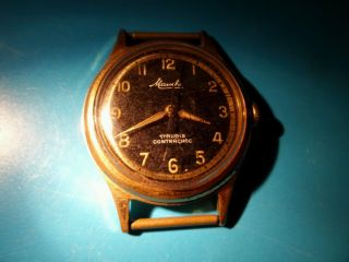 Mauthe 17 Rubis Herren Armband Uhr Vintage Contrachoc Mechanical Men Watch Bild