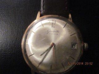 Armbanduhr Für Herren,  GlashÜtte 17 Rubis,  Plaque 14 Karat Bild