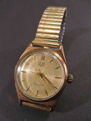 Alte Kleinere Herren Armbanduhr Gub GlashÜtte / Sa,  065159,  Kal.  60.  1,  1950/60 Bild