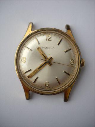 Benrus,  Herren Armbanduhr,  Vergoldet,  Kaliber 11u 488 Bild