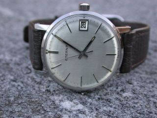 Schöne Eterna Hau Handaufzug Kal 1486 K Herrenuhr Vintage Wristwatch Kontiki Bild