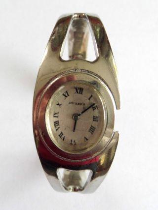 Vintage Dugena Mechanische Damenuhr Spangen - Uhr 800 Silber Gepunzt Selten Bild
