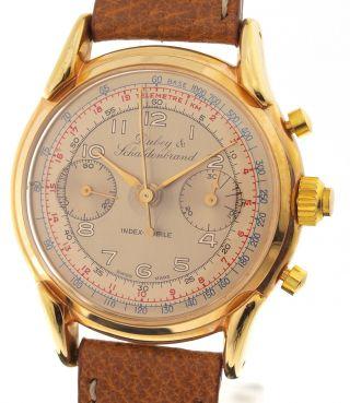 Dubey & Schaldenbrand Index - Mobile - Split Second Chronograph - 1960er Jahre Bild