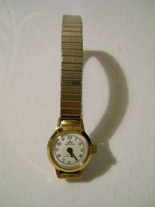 Damen Armbanduhr Modeschmuck Meister - Anker Zierlich Goldfarben Zum Aufziehen Bild