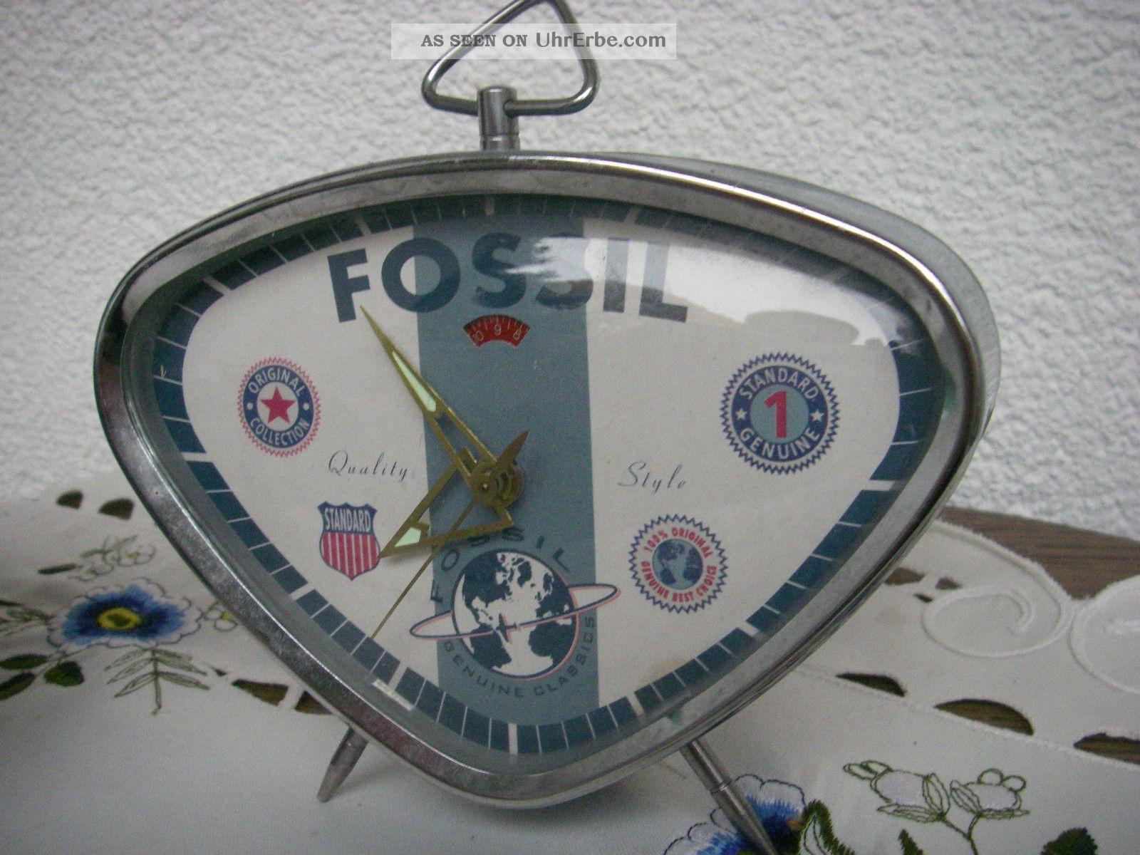 wecker retro style authentic fossil alarm clock drei st ck. Black Bedroom Furniture Sets. Home Design Ideas