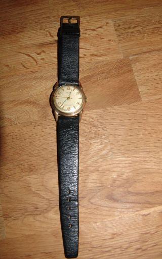 Berg Hau Uhr Armbanduhr 17 Rubins Leder Aus Den 60er Jahren Top Rarität Vintage Bild