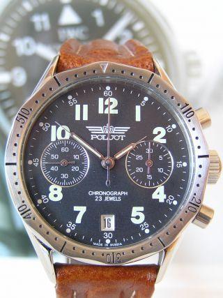 Poljot Fliegerchronograph Aviator - Poljot 3133 - Russian Military Watch Bild