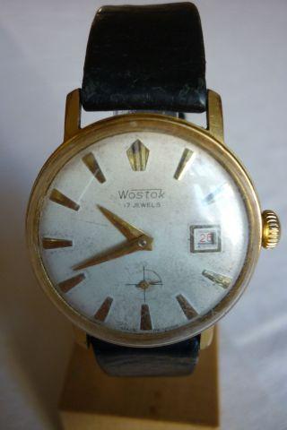 Herrenuhr Wostok 17 Jewels Mechanisch - Handaufzug Armbanduhr Bild