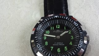 Fortis Handaufzug,  Diver Style,  Uhrwerk Fhf Kal.  969 N Bild