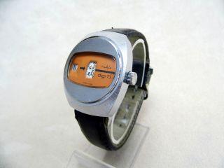 Ruhla Antike Mechanische Digitaluhr Mit Handaufzug Aus Den 70er Jahren Ddr Gdr Bild