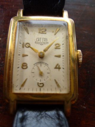 Defekte Herren Armbanduhr Glashütte Gub - Handaufzug Bild