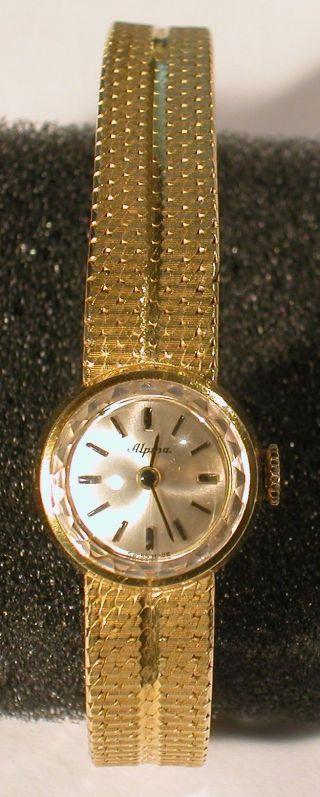 Damenarmbanduhr Armbanduhr Alpina Gold Rarität Bild