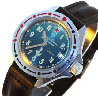 Vostok Komandirskie Diver Watch Vintage Soviet Bild