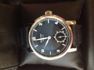 Schöne Kemmner Armbanduhr Mechanisch Unitas 6498 - 1 Soigne Swiss Fliegeruhr Neuw. Bild
