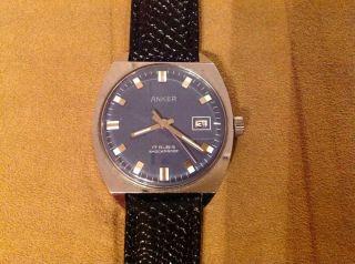 Anker Herren Armbanduhr 17rubis Shockproof,  Datumsanzeige,  Handaufzug Bild