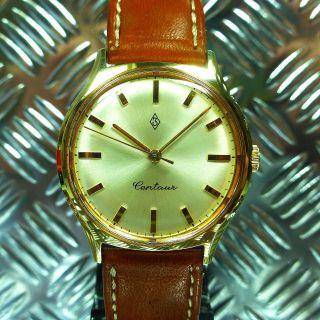Alte Rar 60èr Jahre Zentra Centaur Kal.  Bifora 91 Vergoldet Armbanduhr Bild