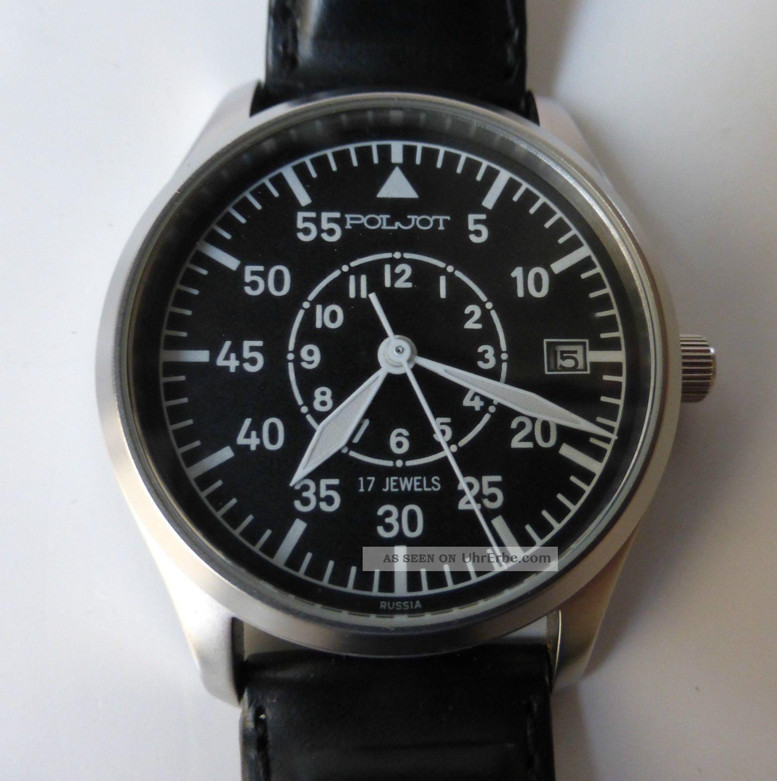 Hau Poljot Uhr Fliegeruhr - Limitierte Sammleruhr - Schöne Herrenuhr Handaufzug Armbanduhren Bild