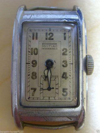 Pontiac Incassable Antimagn Hermetique Uhr Mechanisch Handaufzug 1930er Watch Bild