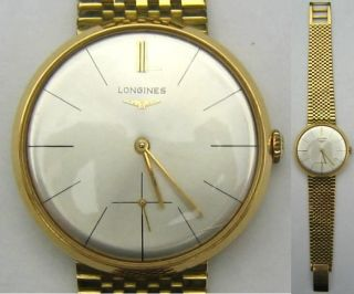 Longines Herrenarmbanduhr,  Armbanduhr,  Gold 750,  Handaufzug Bild